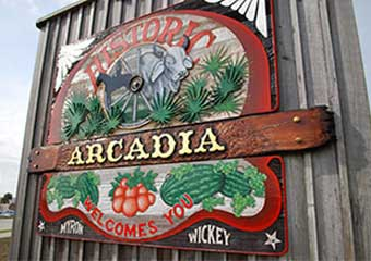 Arcadia Welcome Sign